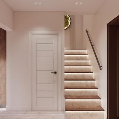 Дизайн двухэтажной квартиры интерьер прихожей