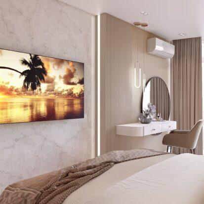 Дизайн двухэтажной квартиры интерьер спальни