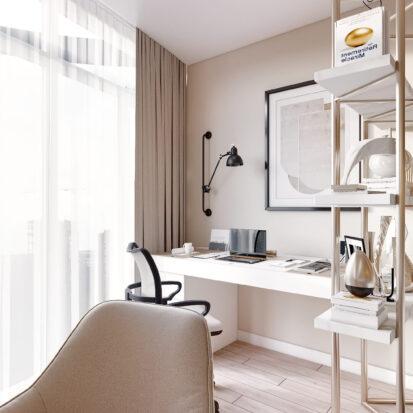 Дизайн двухэтажной квартиры кабинет дизайнерский ремонт