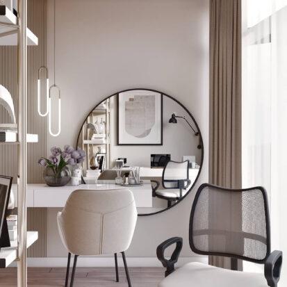 Дизайн двухэтажной квартиры кабинет проект