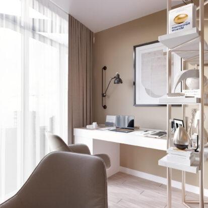Дизайн двухэтажной квартиры кабинет цена 1