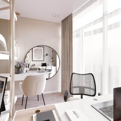 Дизайн двухэтажной квартиры кабинет цена