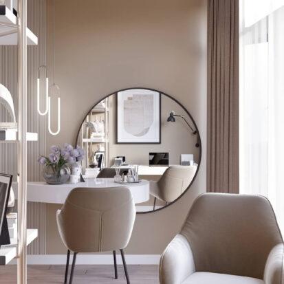Дизайн двухэтажной квартиры кабинет 1