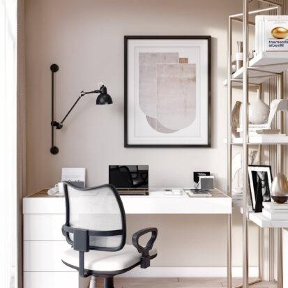 Дизайн двухэтажной квартиры кабинет