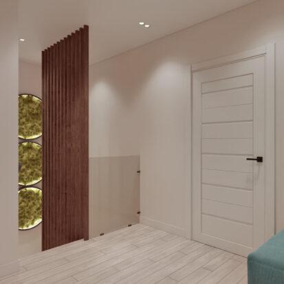 Дизайн двухэтажной квартиры коридор дизайнерский ремонт