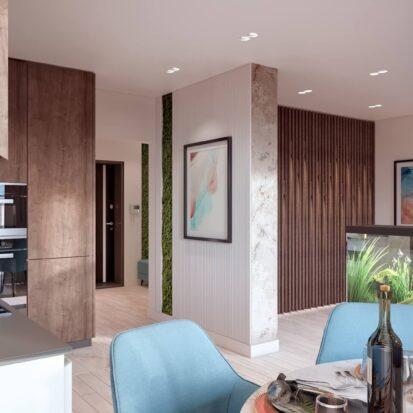 Дизайн двухэтажной квартиры кухня цена