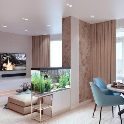Дизайн двухэтажной квартиры кухня 1