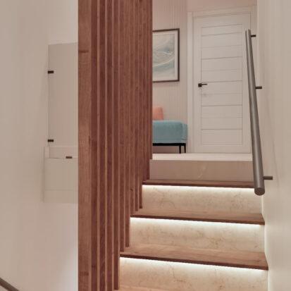Дизайн двухэтажной квартиры лестница дизайнерский ремонт