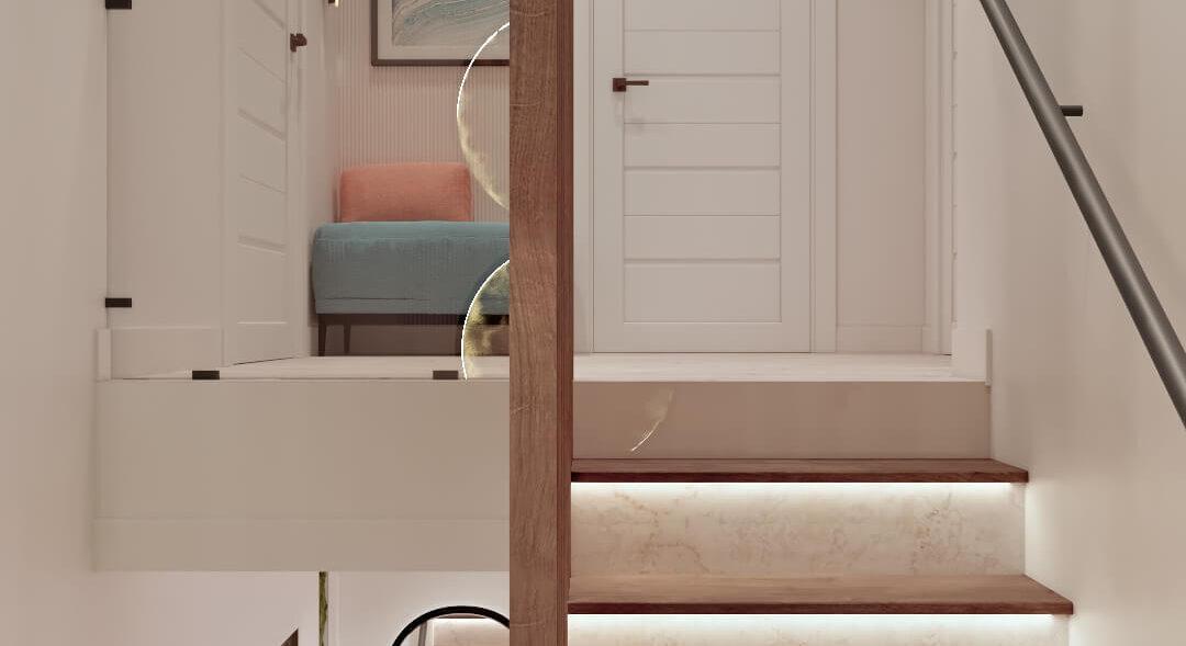 Дизайн двухэтажной квартиры лестница