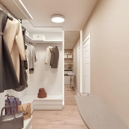 Дизайн двухэтажной квартиры проект гардеробной