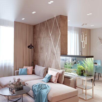 Дизайн двухэтажной квартиры проект гостиной