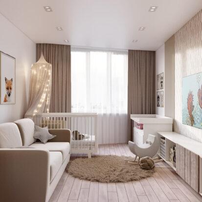 Дизайн двухэтажной квартиры проект детской 1