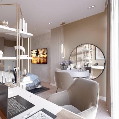 Дизайн двухэтажной квартиры проект кабинета