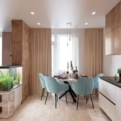 Дизайн двухэтажной квартиры проект кухни