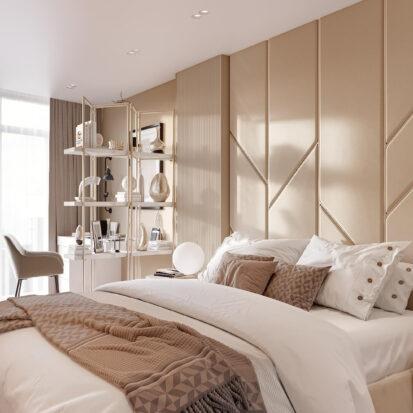 Дизайн двухэтажной квартиры проект спальни 1
