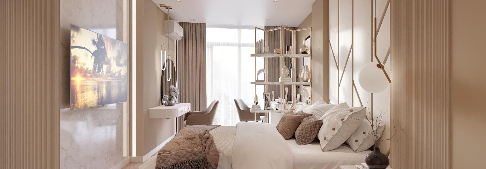 Дизайн двухэтажной квартиры проект спальни