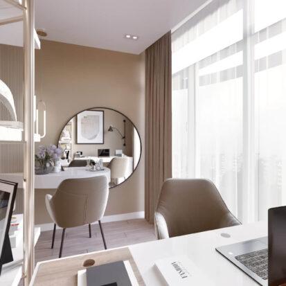 Дизайн двухэтажной квартиры ремонт кабинета 1