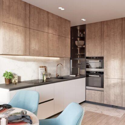 Дизайн двухэтажной квартиры ремонт кухни