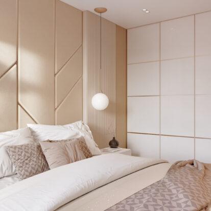 Дизайн двухэтажной квартиры ремонт спальни 1