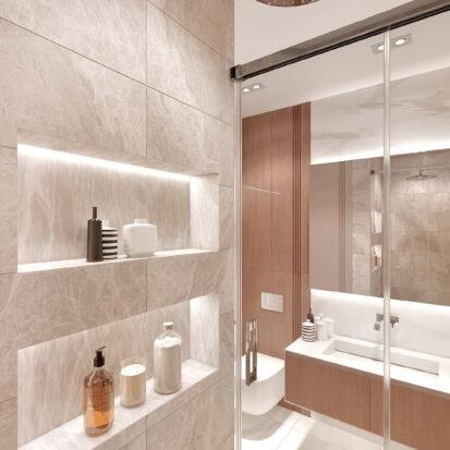 Дизайн двухэтажной квартиры сан узел дизайнерский ремонт