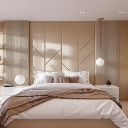 Дизайн двухэтажной квартиры спальня дизайн-проект 1