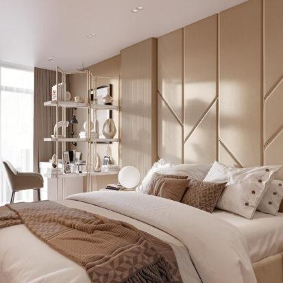 Дизайн двухэтажной квартиры спальня дизайн-проект