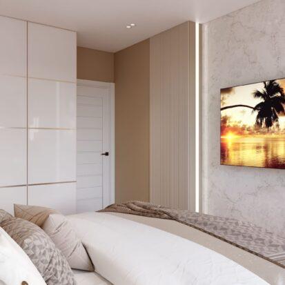 Дизайн двухэтажной квартиры спальня цена 1