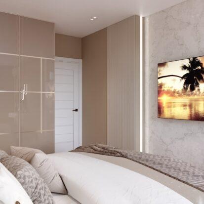 Дизайн двухэтажной квартиры спальня цена
