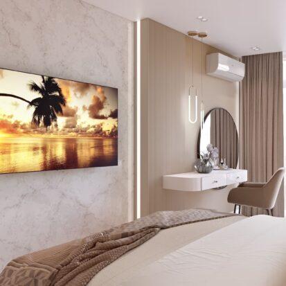 Дизайн двухэтажной квартиры спальня 1