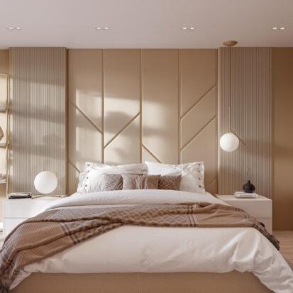 Дизайн двухэтажной квартиры спальня