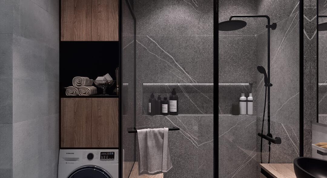 Дизайн 3-х комнатной квартиры Киев Ванная