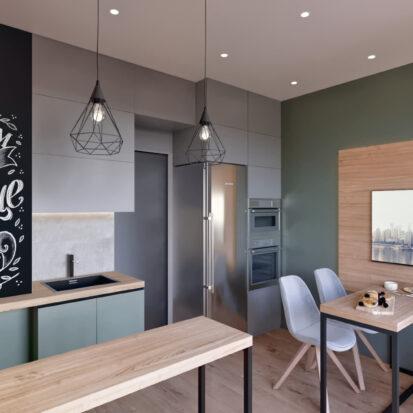 Дизайн 3-х комнатной квартиры Киев гостиная кухня дизайн проект