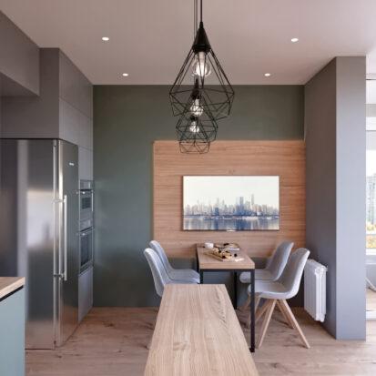 Дизайн 3-х комнатной квартиры Киев гостиная цена