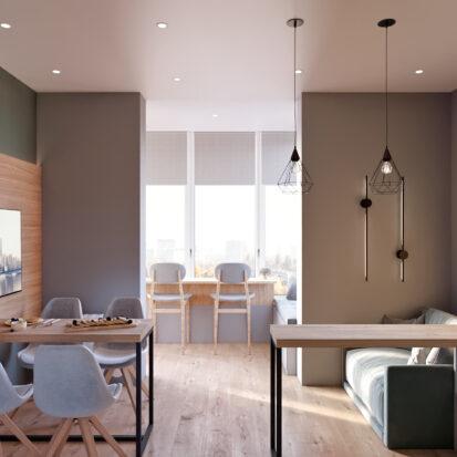Дизайн 3-х комнатной квартиры Киев гостиная