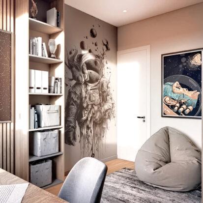 Дизайн 3-х комнатной квартиры Киев детская дизайн - проект