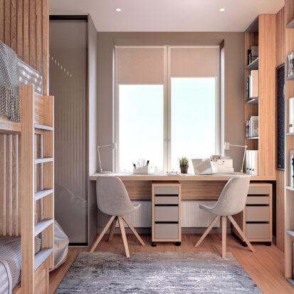 Дизайн 3-х комнатной квартиры Киев детская
