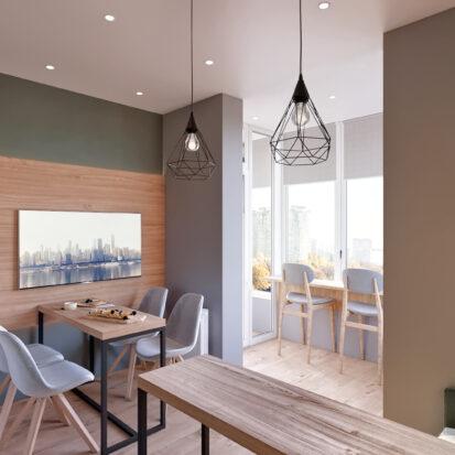 Дизайн 3-х комнатной квартиры Киев дизайнерский ремонт гостиной