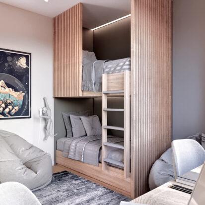 Дизайн 3-х комнатной квартиры Киев дизайнерский ремонт детской