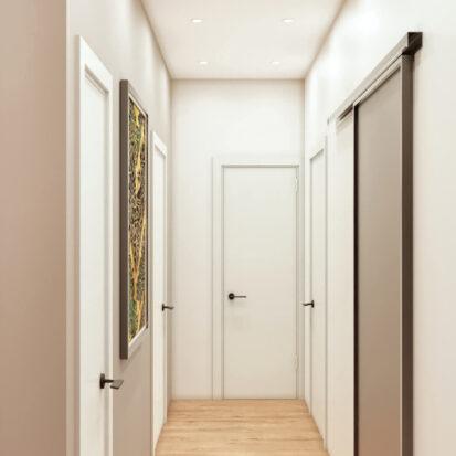 Дизайн 3-х комнатной квартиры Киев дизайнерский ремонт коридора
