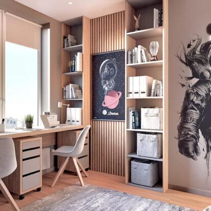 Дизайн 3-х комнатной квартиры Киев интерьер детской комнаты