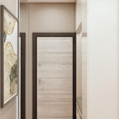 Дизайн 3-х комнатной квартиры Киев интерьер коридора