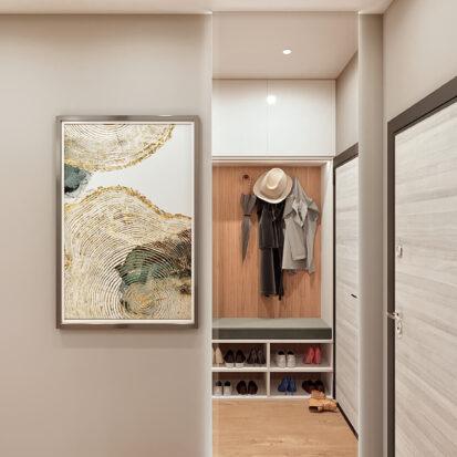 Дизайн 3-х комнатной квартиры Киев интерьер прихожей
