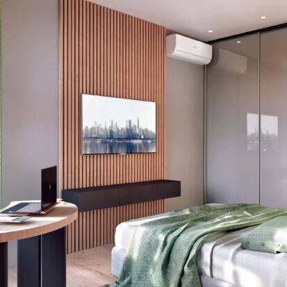 Дизайн 3-х комнатной квартиры Киев интерьер спальни