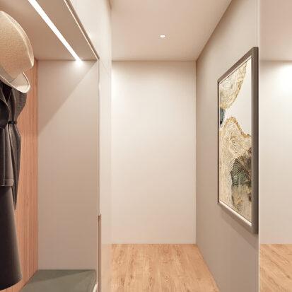 Дизайн 3-х комнатной квартиры Киев прихожая