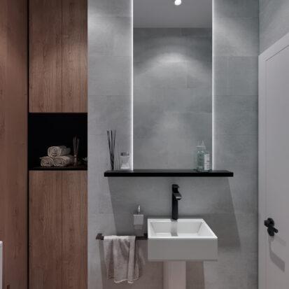 Дизайн 3-х комнатной квартиры Киев проект туалета,