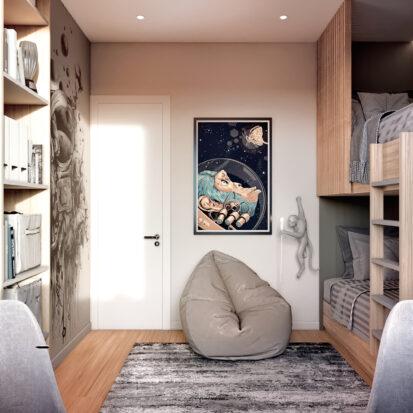 Дизайн 3-х комнатной квартиры Киев ремонт детской