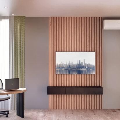 Дизайн 3-х комнатной квартиры Киев спальня дизайнерский ремонт