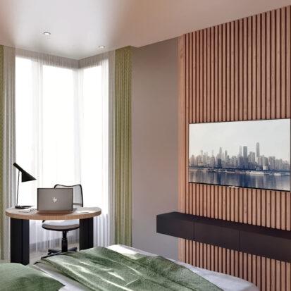 Дизайн 3-х комнатной квартиры Киев спальня студия дизайна