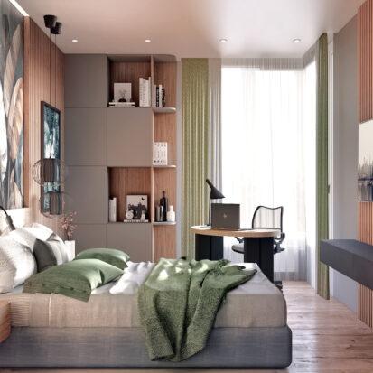 Дизайн 3-х комнатной квартиры Киев спальня цена