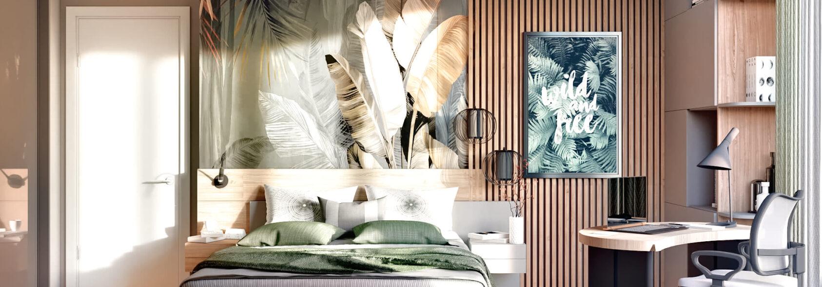 Дизайн 3-х комнатной квартиры Киев спальня